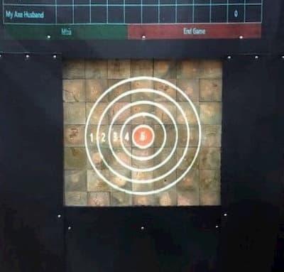 end grain axe throwing target