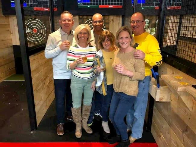 Axe Throwing group in Bryan TX